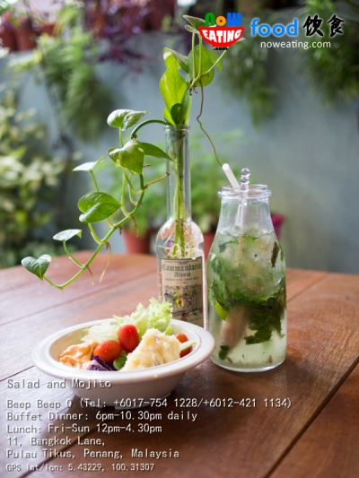 Salad and Mojito