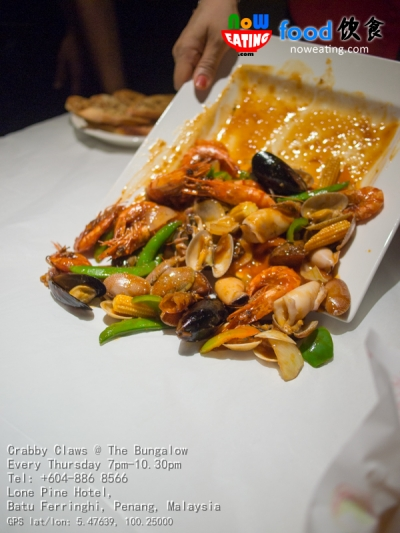 Crabby Claws @ The BungalowEvery Thursday 7pm-10.30pmTel: +604-886 8566