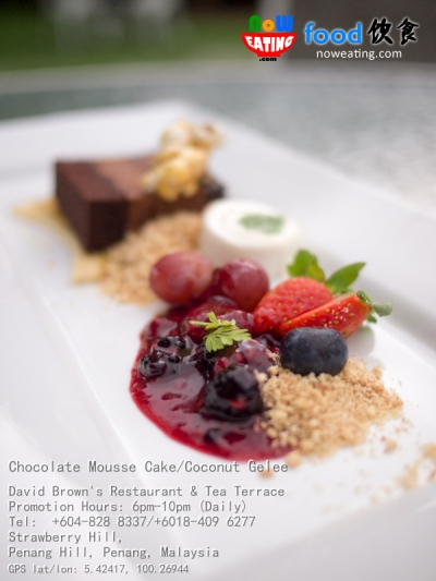 Chocolate Mousse Cake/Coconut Gelee