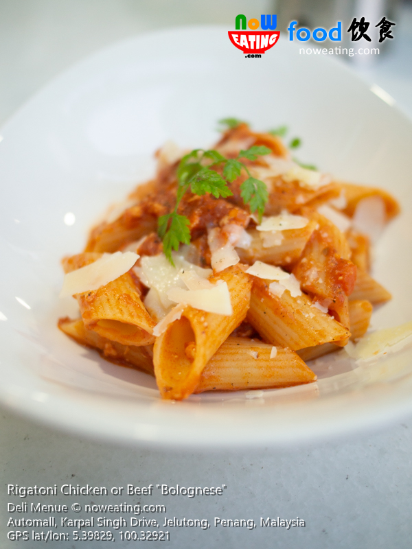 "Rigatoni Chicken or Beef ""Bolognese"""