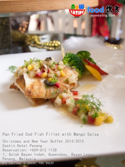 Pan Fried Cod Fish Fillet with Mango Salsa