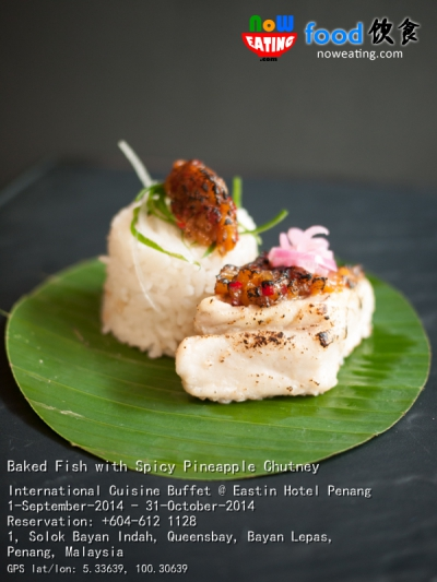 Baked Fish with Spicy Pineapple Chutney