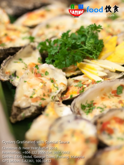 Oysters Gratinated with Special Sauce
