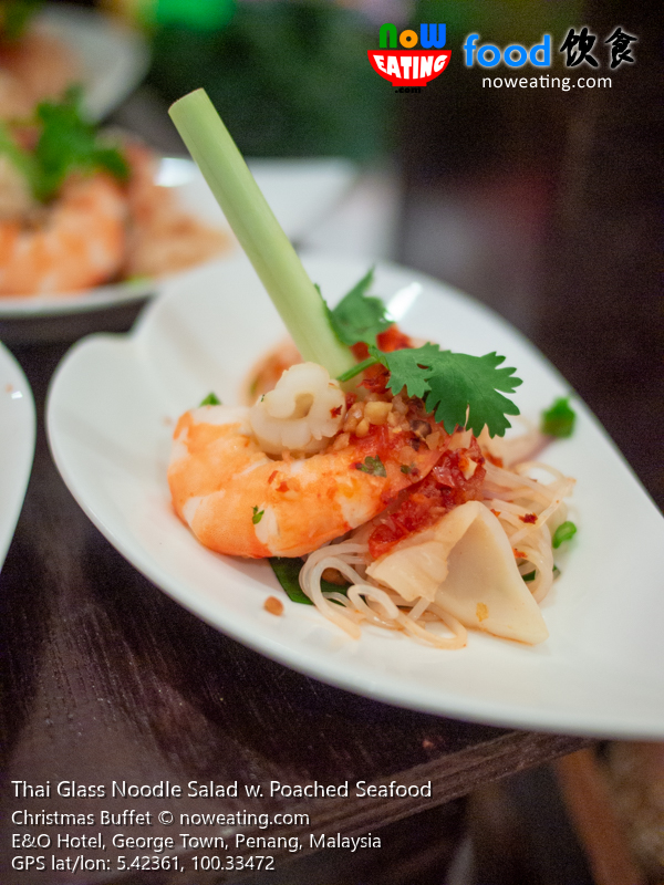 Thai Glass Noodle Salad w. Poached Seafood
