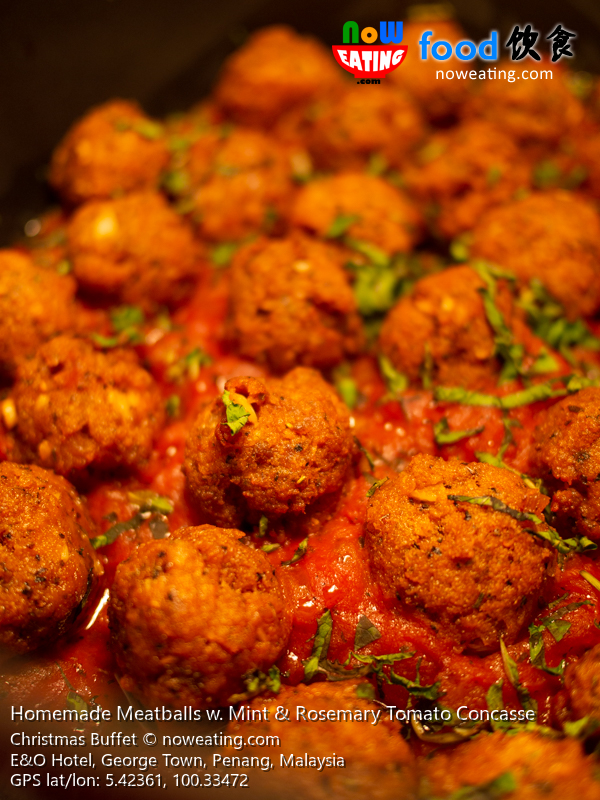Homemade Meatballs w. Mint & Rosemary Tomato Concasse
