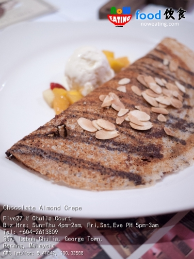 Chocolate Almond Crepe