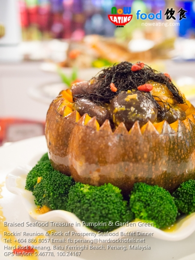 Braised Seafood Treasure in Pumpkin & Garden Green