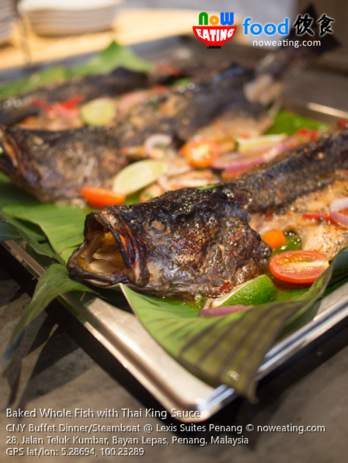 Baked Whole Fish with Thai King Sauce