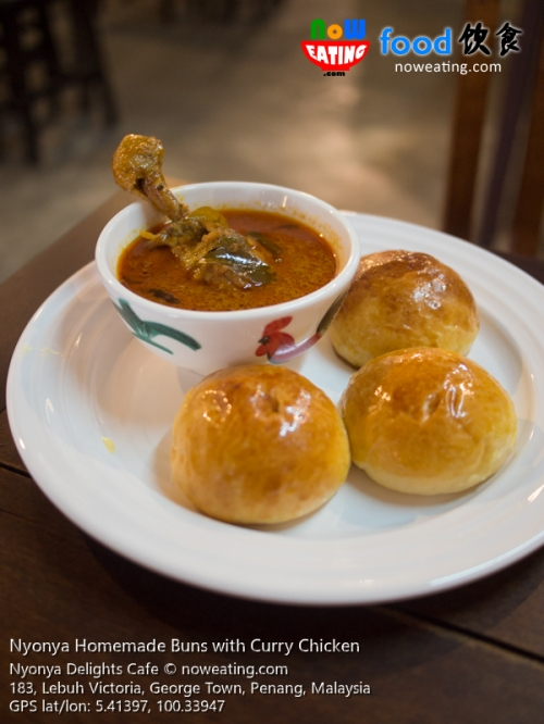 Nyonya Homemade Buns with Curry Chicken