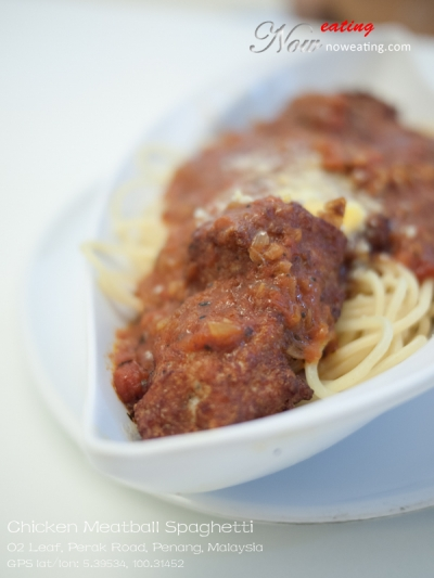 Chicken Meatball Spaghetti
