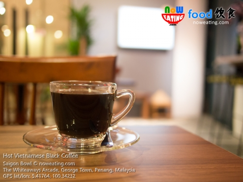 Hot Vietnamese Black Coffee