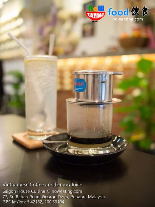 Vietnamese Coffee and Lemon Juice