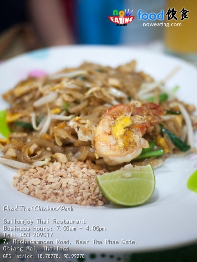 Phad Thai Chicken/Pork