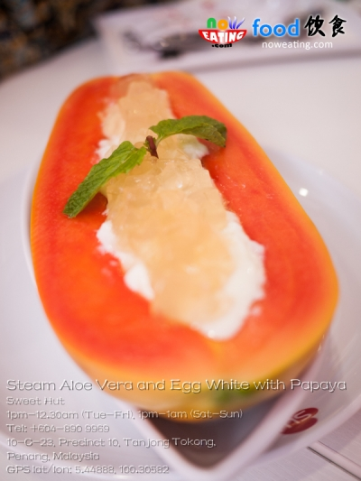 Steam Aloe Vera and Egg White with Papaya