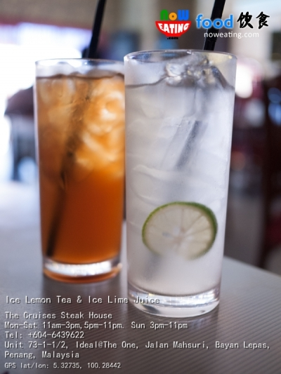Ice Lemon Tea & Ice Lime Juice