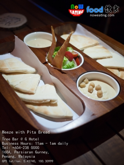 Meeze with Pita Bread