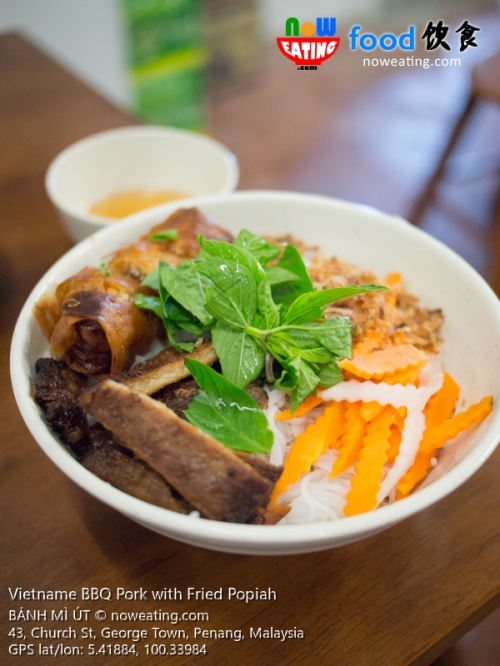 Vietname BBQ Pork with Fried Popiah