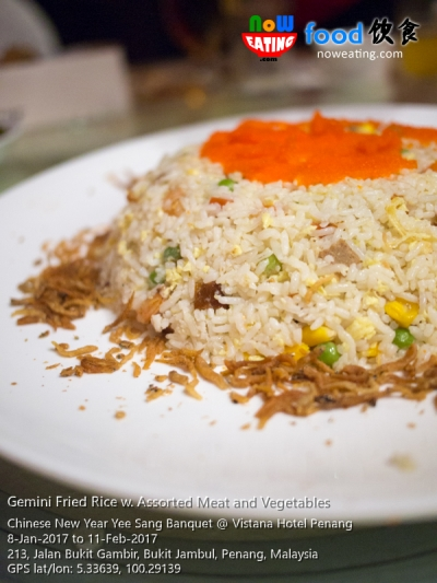 Gemini Fried Rice w. Assorted Meat and Vegetables