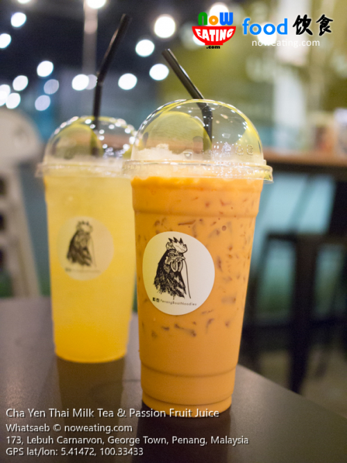 Cha Yen Thai Milk Tea & Passion Fruit Juice