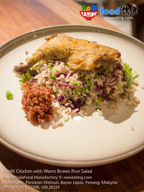 Confit Chicken with Warm Brown Rice Salad